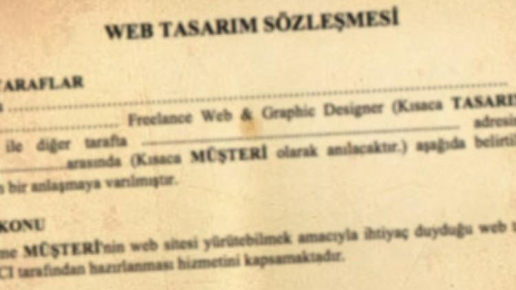 Web Tasarım Hizmet Sözleşmesi