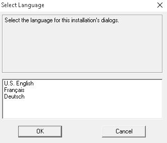 Camtasia 8 kurulum Dil Seçeneği ekranı.